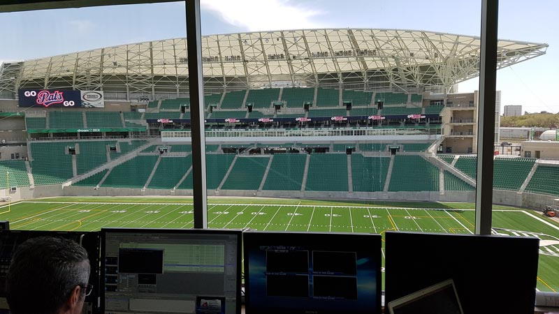 View of the stadium from the control room